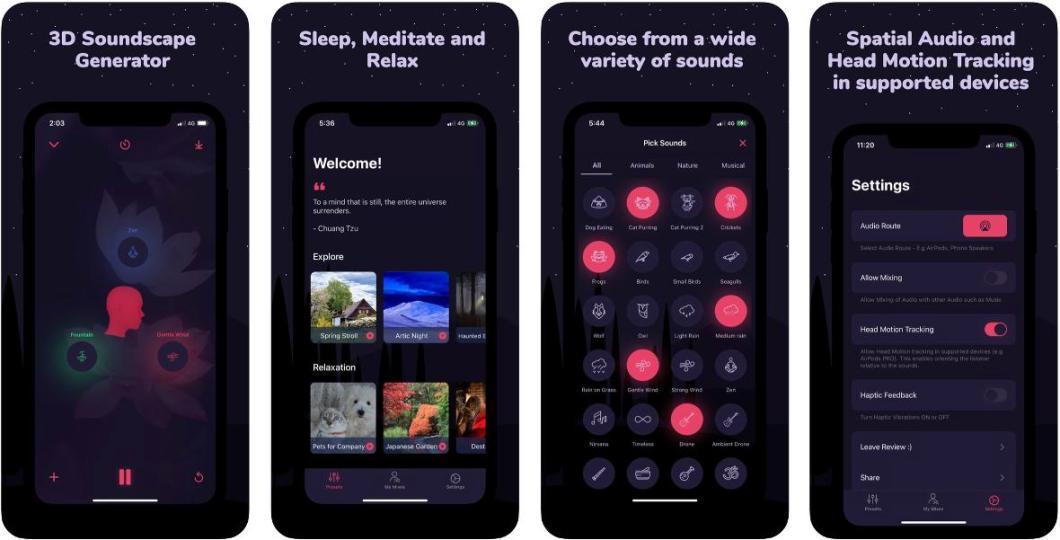 App con sonidos espaciales (3D)