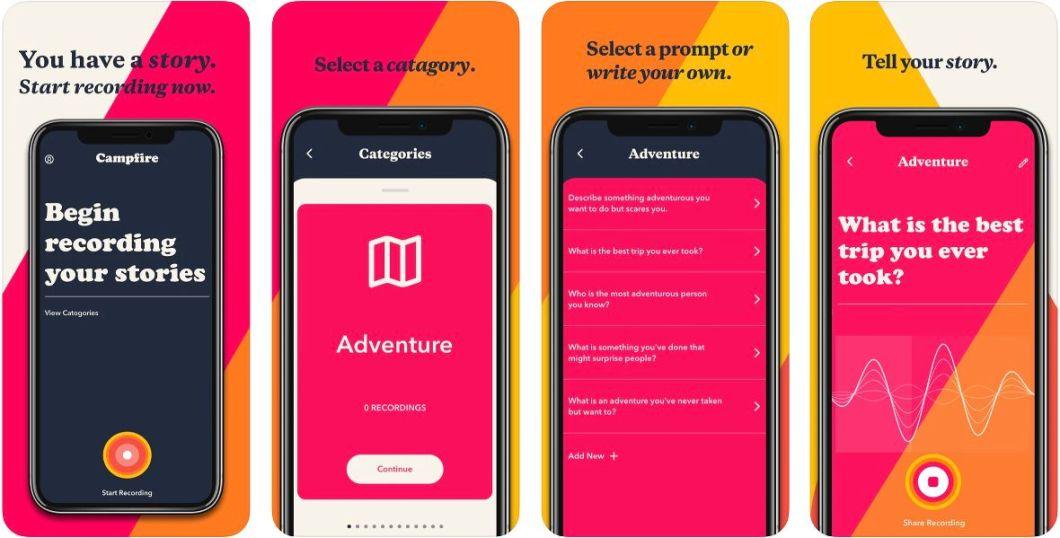 App Audio Campfire para iPhone