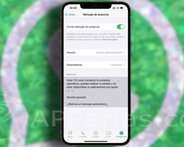 Cómo crear un mensaje de ausencia en WhatsApp Business