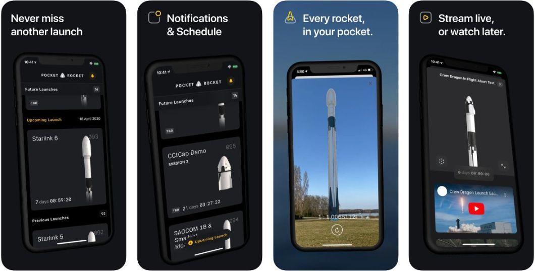 App Pocket Rocket para iOS