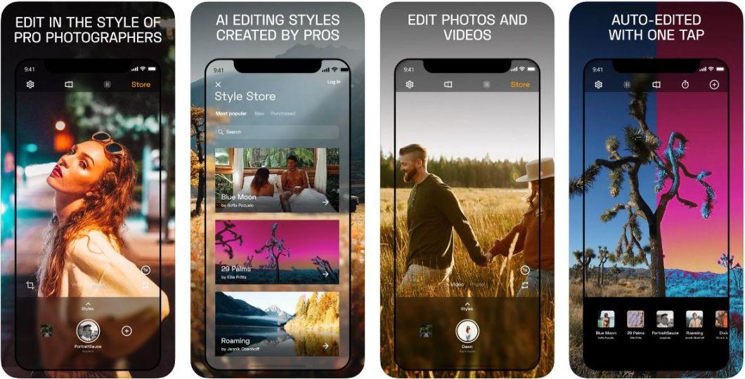 Editor fotográfico para iOS