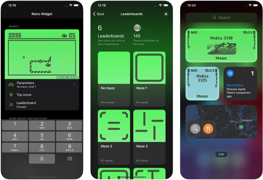 Widgets Retro para iPhone, iPad y Apple Watch