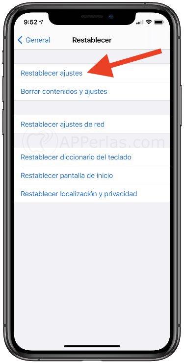 Restablece los ajustes del iPhone para eliminar las alarmas no configuradas