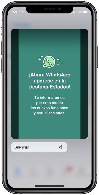 Silencia los estados de WhatsApp