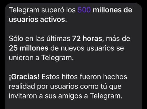Telegram ad