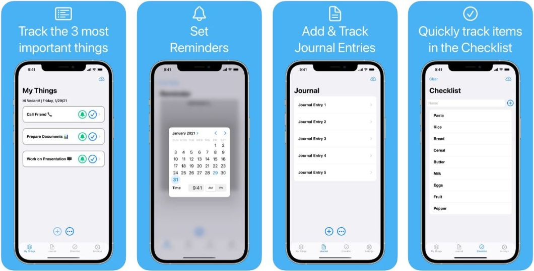 App de recordatorios para iPhone