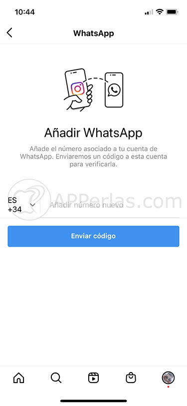 conectar instagram y whatsapp boton perfil 2