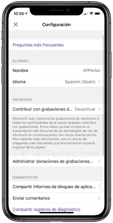 Configuración de Group Transcribe