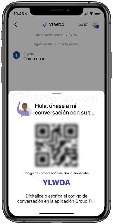 Comparte la conversación de esta aplicación de transcripción