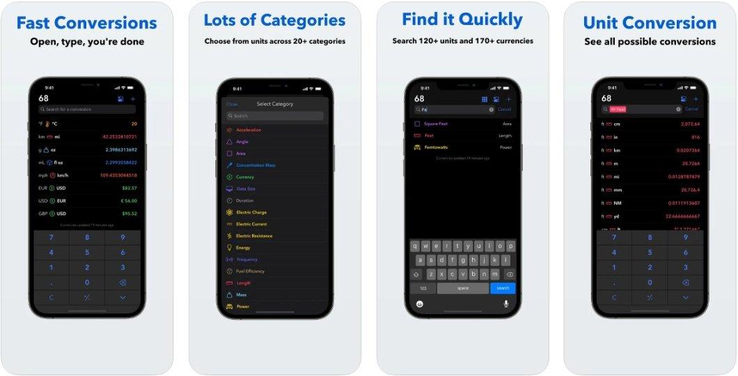 Interesante convertidor para iPhone, iPad y Apple Watch