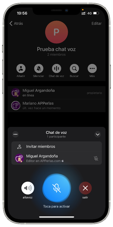 grupo de voz en Telegram 2