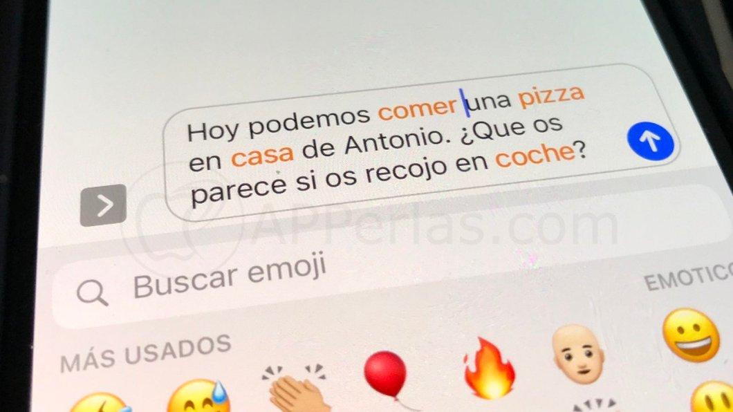Poner emojis en iPhone de manera automática
