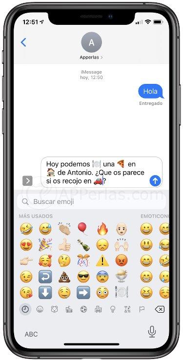 Mensaje con emojis