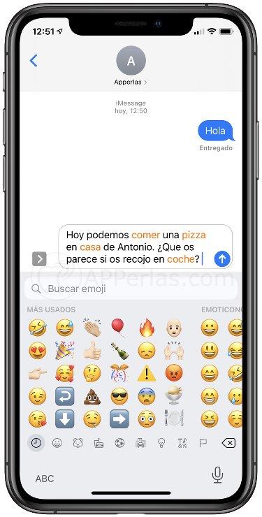 Texto para cambiar por emojis