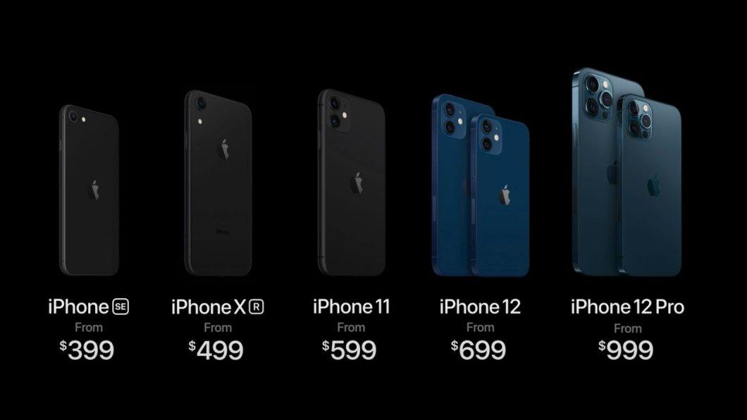 Gama de iPhone que Apple tiene a la venta en 2021