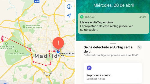 Alerts when carrying a Unidentified AirTag.