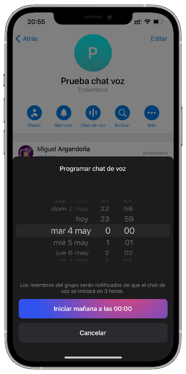 schedule a chat voice 2