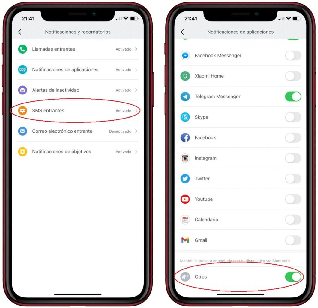 Notificaciones y SMS