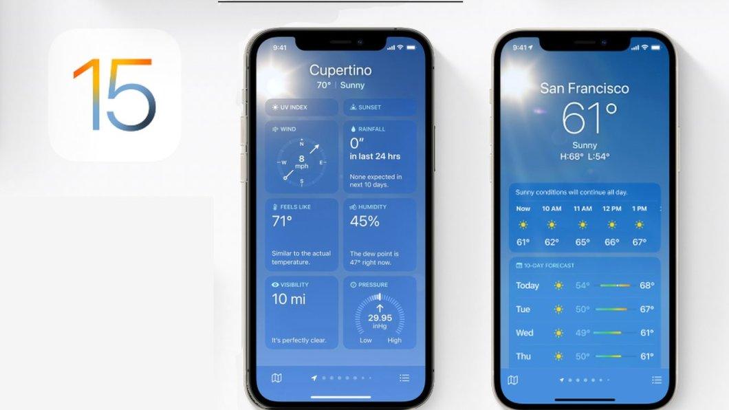 App tiempo iOS 15