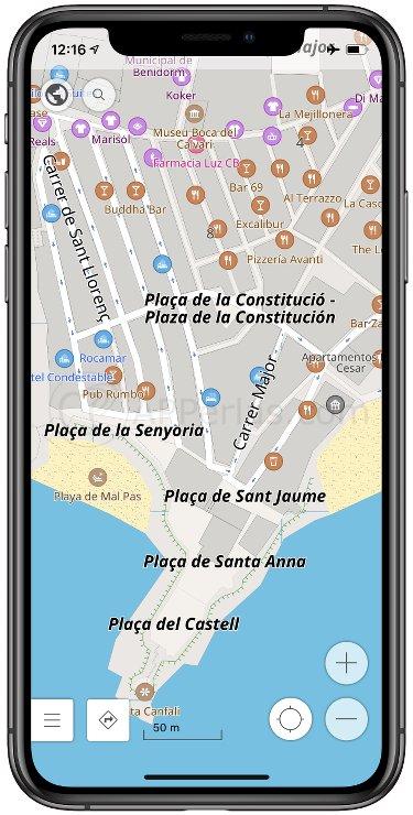 Mapas sin conexión para viajar