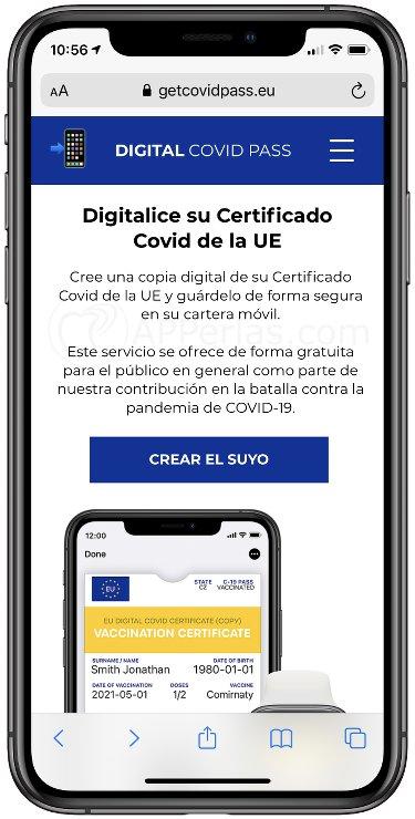 Portal para descargar el pasaporte sanitario