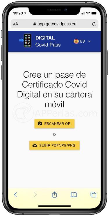 Pasos para tener el certificado COVID en el iPhone