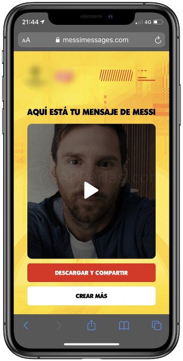 Guarda el mensaje de Messi