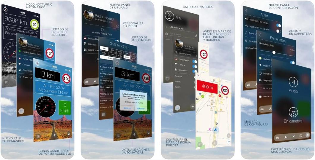 Radar Nomad para iPhone