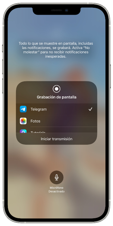 compartir pantalla en un chat de Telegram 6