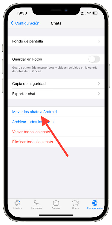 WhatsApp de iPhone a Android 1