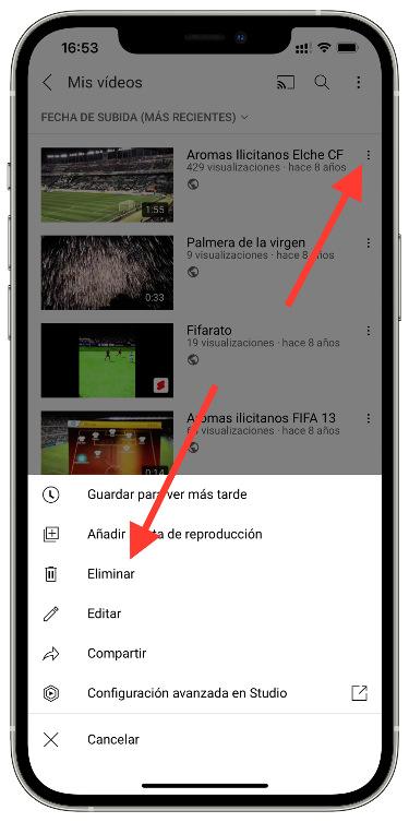 vídeo subido a YouTube 2
