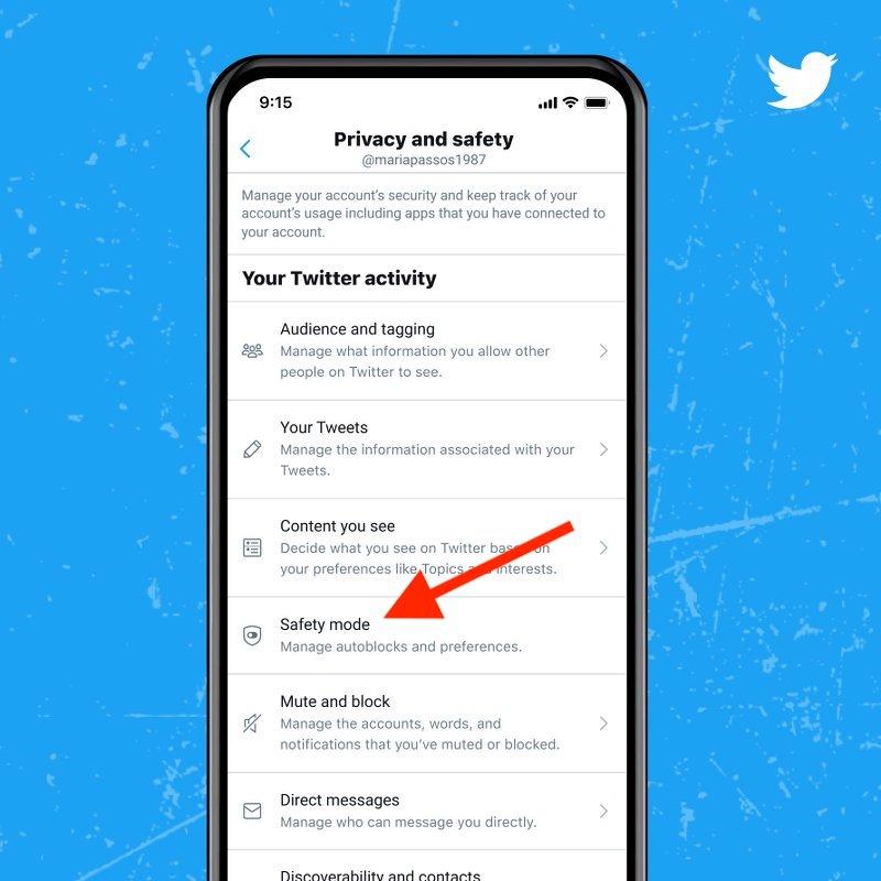Activa el modo seguro de Twitter