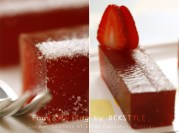 strawberry gelee... food styling notes by ockstyle