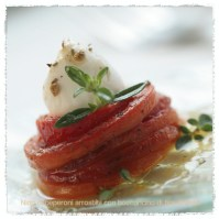 "grilled peppers nest with a ""bocconcino di fior di latte""... photo: lucia zeccara"