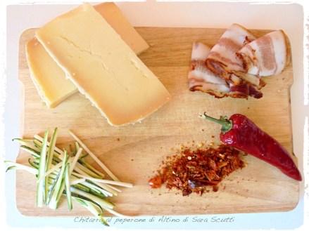 Ingredienti per il condimento :: Chitarra all'oro rosso di Altino di Sara Scutti