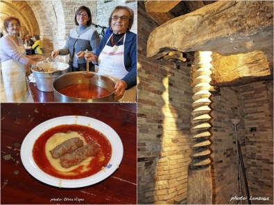 Polenta, salsiccia, sugo and old mill equipment | photo: ©Lonza65 and ©OliviaVispo