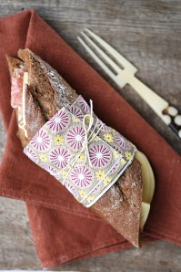 Italian panini :: Five grains baguette with salame and provolone:: Recipe & Styling: Orsola Ciriello Kogan | Photo ©LuciaZeccara