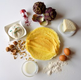 Ingredients for Timballini Crepes, Artichokes and Burrata Cheese | Recipe and Photo ©SaraScutti