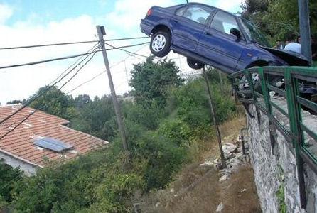 geen goede chauffeur...