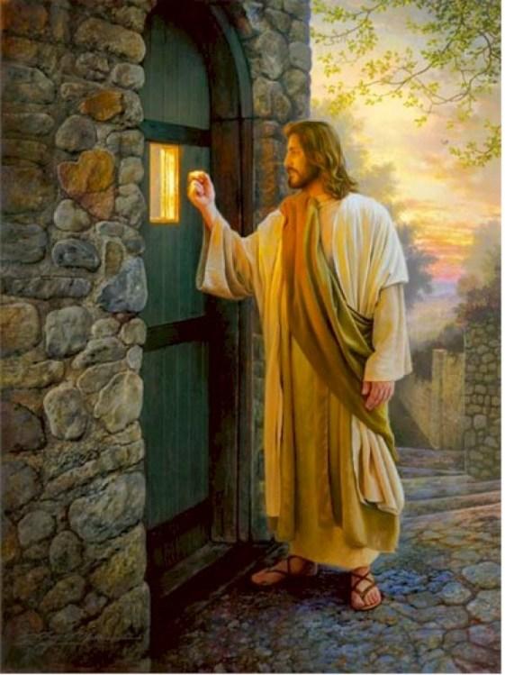 Ik sta aan de deur en ik klop