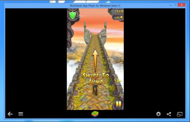 Playing Temple Run on Windows through BlueStacks
