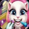 games for kids Angela cat dentist - talking cat game online