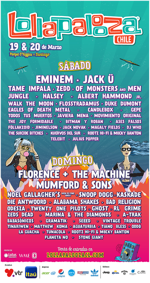 Lollapalooza Chile 2016 line up diario