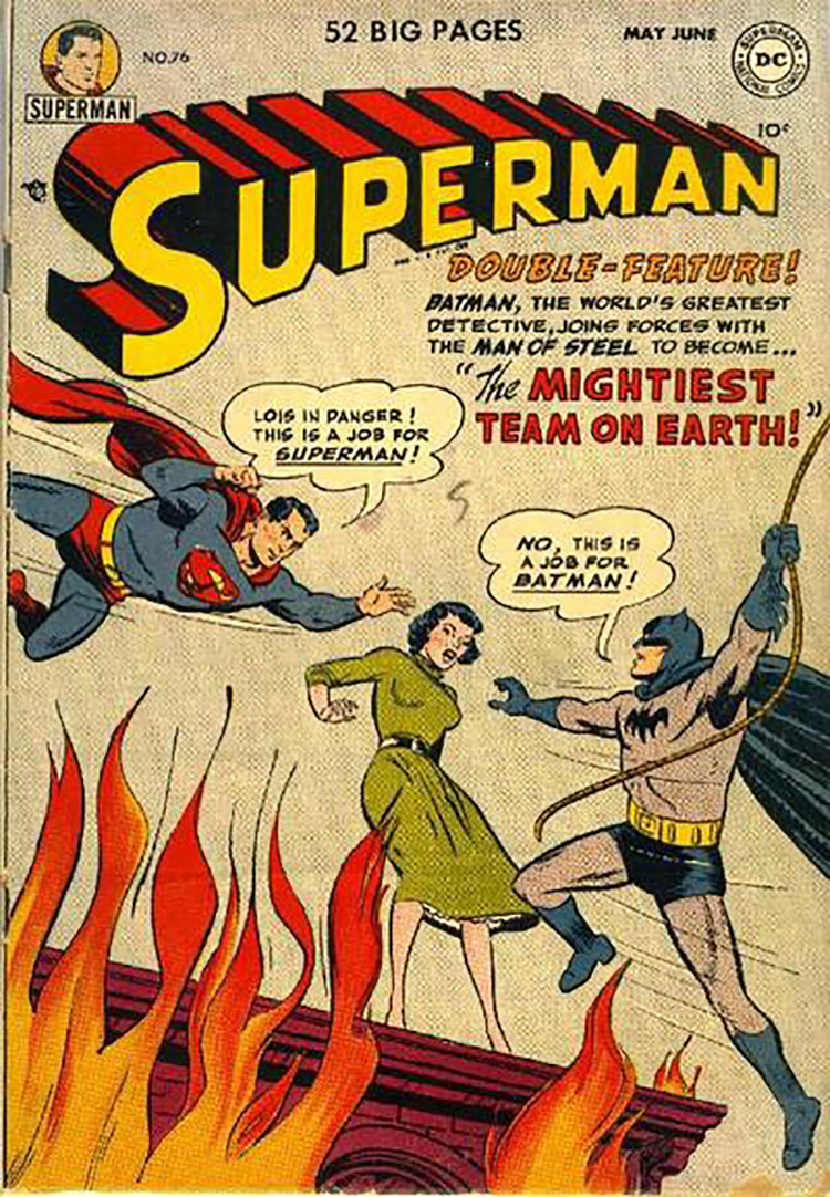 Batman v Superman comic 1952