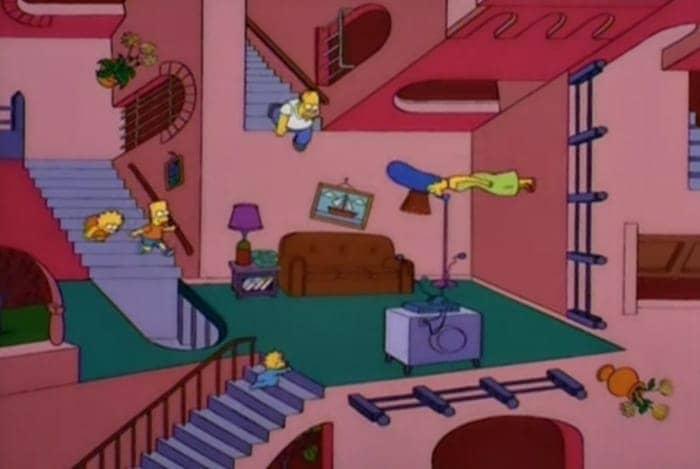 M C Escher Los Simpson