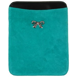 Suede iPad hoes Turquoise