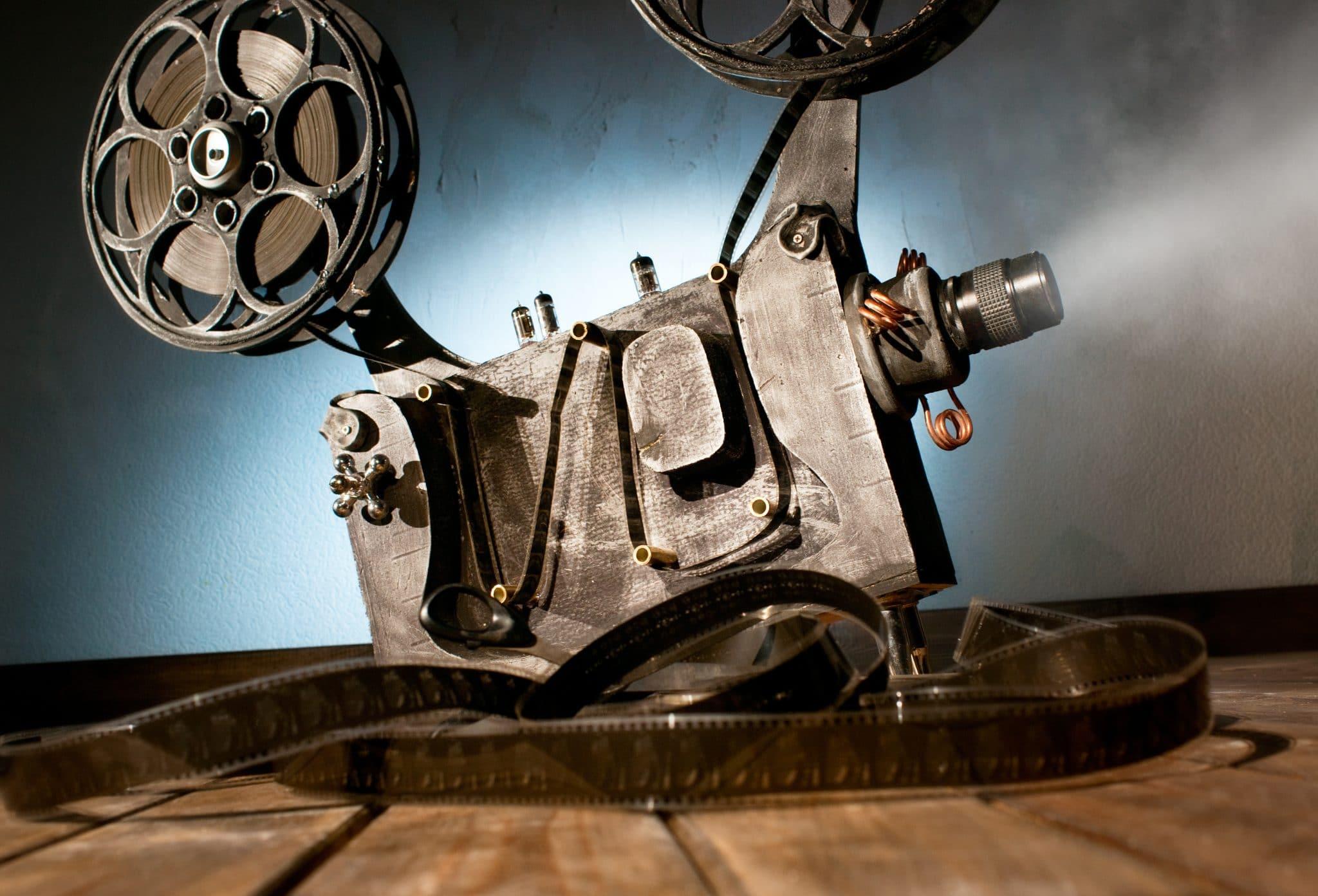 vintage home cinema projector