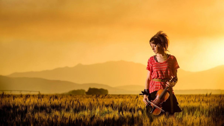 women-sunset-fields-red-dress-lindsey-stirling-violinist-1920x1080-1696