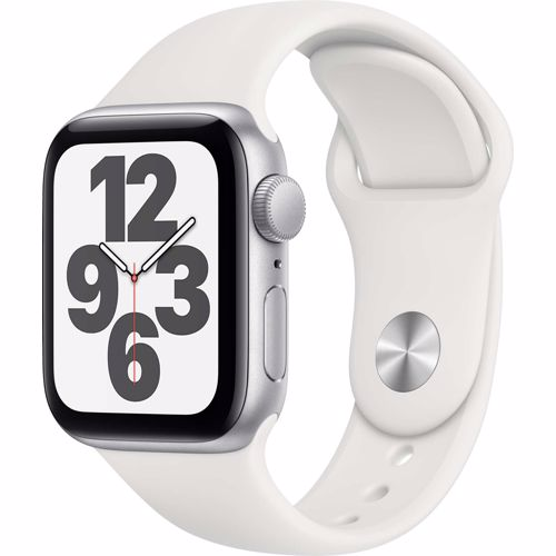 Apple Watch SE GPS 40mm (Zilver) Sportband (Wit)