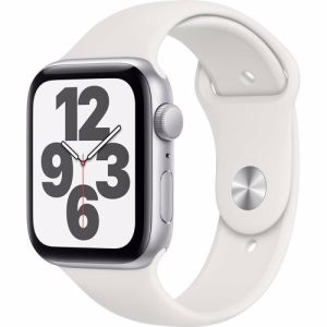 Apple Watch SE GPS 44mm (Zilver) Sportband (Wit)